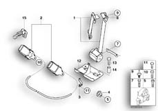 Goto diagram: BMW Classic Motorrad Modell C1 (0191)( ECE ), Category 52.53 Safety belts :: Diagram: 52_2783