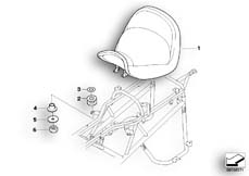 Goto diagram: BMW Classic Motorbike Model R 1200 CL (0442,0496)( USA ), Category 52.53 Front seat :: Diagram: 52_2983