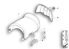 Goto diagram: BMW Classic Motorbike Model R 1200 CL (0442,0496)( USA ), Category 52.53 Rear seat :: Diagram: 52_2984