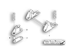 Goto diagram: BMW Classic Motorbike Model R 1200 GS Adve. 10 (0470,0480)( ECE ), Category 52.53 DUALSEAT LOCKING MECHANISM :: Diagram: 52_3107