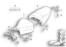 Goto diagram: BMW Classic Motorrad Modell R 1200 ST (0328,0338)( ECE ), Category 52.53 Seat bench :: Diagram: 52_3227