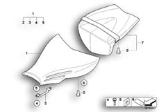 Goto diagram: BMW Classic Motorrad Modell R 1200 S (0366,0396)( ECE ), Category 52.53 Seat bench :: Diagram: 52_3261