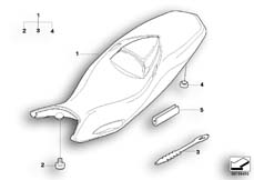 Goto diagram: BMW Classic Motorbike Model F 800 GT (0B03, 0B13)( USA ), Category 52.53 Seat bench :: Diagram: 52_3262
