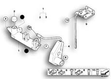 Goto diagram: BMW Classic Motorbike Model R 1200 S (0366,0396)( USA ), Category 52.53 Mounting parts for seat bench :: Diagram: 52_3264