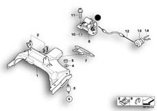 Goto diagram: BMW Classic Motorbike Model F 800 GT (0B03, 0B13)( USA ), Category 52.53 Mounting parts for seat bench :: Diagram: 52_3265