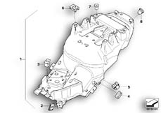 Goto diagram: BMW Classic Motorrad Modell R 1200 S (0366,0396)( ECE ), Category 52.53 TAIL TRIM :: Diagram: 52_3266