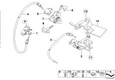 Goto diagram: BMW Classic Motorbike Model G 650 GS 09 (0178,0179)( ECE ), Category 52.53 Seat bench locking system :: Diagram: 52_3384