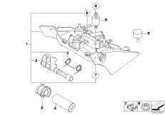 Goto diagram: BMW Classic Motorrad Modell F 700 GS (0B21)( BRA ), Category 52.53 Seat bench locking system :: Diagram: 52_3439