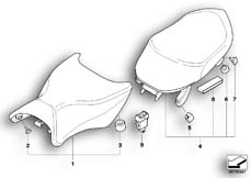 Goto diagram: BMW Classic Motorrad Modell K 1300 GT (0538,0539)( USA ), Category 52.53 Seat bench :: Diagram: 52_3524