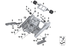 Goto diagram: BMW Classic Motorrad Modell K 1600 GTL (0602, 0612)( ECE ), Category 52.53 DUALSEAT LOCKING MECHANISM :: Diagram: 52_3711