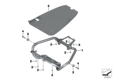Goto diagram: BMW Classic Motorrad Modell F 700 GS 17 (0B26)( BRA ), Category 52.53 Holder for radio equipment box :: Diagram: 52_3749