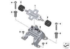 Goto diagram: BMW Classic Motorrad Modell R 1200 RT (0A03, 0A13)( USA ), Category 52.07 FRONT SEAT-VERTICAL SEAT ADJUSTER :: Diagram: 52_4017