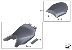 Goto diagram: BMW Classic Motorrad Modell R 1200 RS (0A05, 0A15)( USA ), Category 52.53 Seat bench :: Diagram: 52_4067