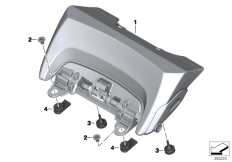 Goto diagram: BMW Classic Motorrad Modell R 1200 RT (0A03, 0A13)( USA ), Category 52.53 Seat bench adapter :: Diagram: 52_4086