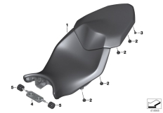 Goto diagram: BMW Classic Motorbike Model S 1000 XR (0D23)( BRA ), Category 52.53 Seat bench :: Diagram: 52_4113