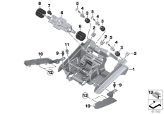 Goto diagram: BMW Classic Motorrad Modell K 1600 GT 17 (0F01, 0F11)( ECE ), Category 52.53 DUALSEAT LOCKING MECHANISM :: Diagram: 52_4226