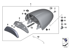 Goto diagram: BMW Classic Motorrad Modell R nineT Racer (0J21, 0J23)( USA ), Category 52.53 Cover, tail unit :: Diagram: 52_4289