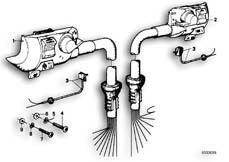 Goto diagram: BMW Classic Motorbike Model R 100 S( ECE ), Category 61.25 COMBINATION SWITCH AT HANDLEBAR :: Diagram: 61_0222