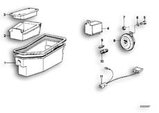 Goto diagram: BMW Classic Motorbike Model R 100 RS( ECE ), Category 61.05 Tool box :: Diagram: 61_0235