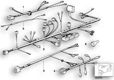 Goto diagram: BMW Classic Motorbike Model R 80 RT( USA ), Category 61.05 Wiring harness :: Diagram: 61_0242