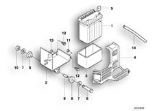 Goto diagram: BMW Classic Motorbike Model F 650 ST 97 (0163,0168)( ECE ), Category 61.21 Battery :: Diagram: 61_0273