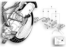 Goto diagram: BMW Classic Motorbike Model R 1100 GS 94 (0404,0409)( USA ), Category 61.34 Retrofit kit, socket :: Diagram: 61_0281
