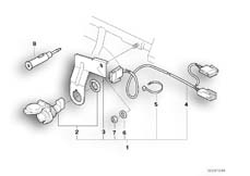 Goto diagram: BMW Classic Motorbike Model R 1100 RS 93 (0411,0416)( ECE ), Category 61.34 Retrofit kit, socket :: Diagram: 61_1056
