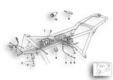 Goto diagram: BMW Classic Motorbike Model K 1100 LT (0526, 0536)( ECE ), Category 61.11 Chassis wiring harness :: Diagram: 61_1081