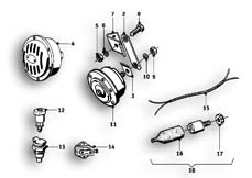 Goto diagram: BMW Classic Motorrad Modell R69 S( ECE ), Category 61.35 Horn :: Diagram: 61_1260
