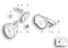 Goto diagram: BMW Classic Motorbike Model R 1150 GS Adv. 01 (0441,0492)( USA ), Category 61.33 Horn :: Diagram: 61_1276