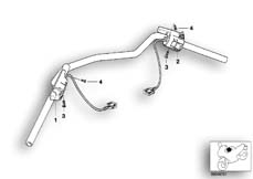 Goto diagram: BMW Classic Motorbike Model R 1150 RS 01 (0447,0498)( ECE ), Category 61.31 COMBINATION SWITCH AT HANDLEBAR :: Diagram: 61_1284