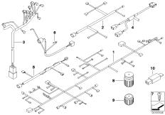Goto diagram: BMW Classic Motorrad Modell G 650 GS Sertão (0136, 0146)( ECE ), Category 61.11 Wiring harness :: Diagram: 61_1366