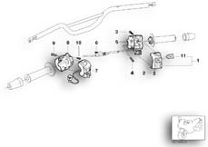 Goto diagram: BMW Classic Motorbike Model G 650 GS 09 (0178,0179)( ECE ), Category 61.31 COMBINATION SWITCH AT HANDLEBAR :: Diagram: 61_1376