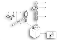 Goto diagram: BMW Classic Motorrad Modell C1 (0191)( ECE ), Category 61.66 Windshield cleaning container :: Diagram: 61_1411