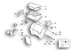 Goto diagram: BMW Classic Motorbike Model R 1100 GS 94 (0404,0409)( USA ), Category 61.11 WIRING BOX/FUXE BOX/MOUNTING PARTS :: Diagram: 61_1501