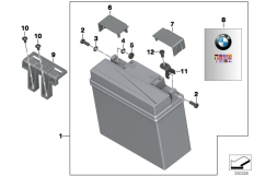 Goto diagram: BMW Classic Motorbike Model K 1600 GTL Excl. (0603, 0613)( USA ), Category 61.21 Battery with holder :: Diagram: 61_2798