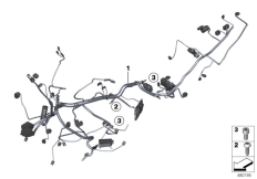 Goto diagram: BMW Classic Motorrad Modell K 1600 GT 17 (0F01, 0F11)( ECE ), Category 61.11 Main wiring harness :: Diagram: 61_2838