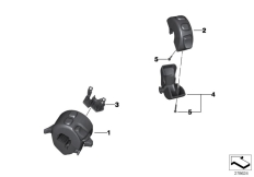 Goto diagram: BMW Classic Motorrad Modell C 650 Sport 16 (0C04, 0C14)( USA ), Category 61.31 COMBINATION SWITCH AT HANDLEBAR :: Diagram: 61_2986