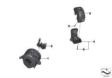 Goto diagram: BMW Classic Motorrad Modell F 800 GS Adve. (0B05, 0B15)( ECE ), Category 61.31 COMBINATION SWITCH AT HANDLEBAR :: Diagram: 61_3017