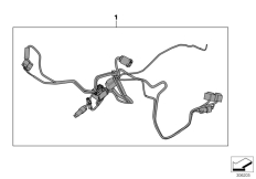 Goto diagram: BMW Classic Motorrad Modell F 700 GS 17 (0B26)( BRA ), Category 61.12 Add.wiring harness special vehicle :: Diagram: 61_3098