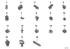 Goto diagram: BMW Classic Motorrad Modell R 1200 RT (0A03, 0A13)( USA ), Category 61.13 VARIOUS CABLE HOLDERS :: Diagram: 61_3220