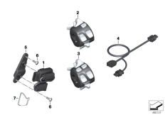 Goto diagram: BMW Classic Motorrad Modell K 1600 GTL (0602, 0612)( ECE ), Category 61.31 Adapter lead, switch :: Diagram: 61_3342