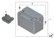 Goto diagram: BMW Classic Motorbike Model S 1000 R 17 (0D72)( BRA ), Category 61.21 Battery :: Diagram: 61_3365