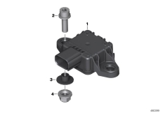 Goto diagram: BMW Classic Motorrad Modell R 1200 RS (0A05, 0A15)( USA ), Category 61.35 Angular rate sensor II :: Diagram: 61_4786