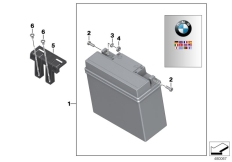 Goto diagram: BMW Classic Motorbike Model K 1600 GTL 17 (0F02, 0F12)( USA ), Category 61.21 Battery with holder :: Diagram: 61_5394