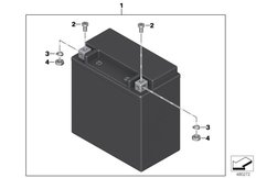 Goto diagram: BMW Classic Motorrad Modell K 1600 Bagger (0F51, 0F53)( USA ), Category 61.21 Battery AGM :: Diagram: 61_5416