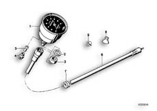 Goto diagram: BMW Classic Motorrad Modell R 80 G/S( ECE ), Category 62.05 SPEEDOMETER, SPEEDO CABLE :: Diagram: 62_0213