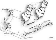 Goto diagram: BMW Classic Motorrad Modell R 80 ST( USA ), Category 62.15 ADDITIONAL INSTRUMENTS :: Diagram: 62_0228