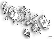 Goto diagram: BMW Classic Motorbike Model R 80 RT( USA ), Category 62.05 INSTRUMENTS/MOUNTING PARTS :: Diagram: 62_0235
