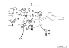 Goto diagram: BMW Classic Motorbike Model K 100 LT 87 (0506,0516)( ECE ), Category 62.15 ADDITIONAL INSTRUMENTS :: Diagram: 62_0239